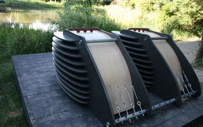 GigantikArpz is a contemporary musical instrument by Victor Gama.