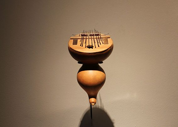 Kissanje Kaba is a contemporary musical instrument by Victor Gama.